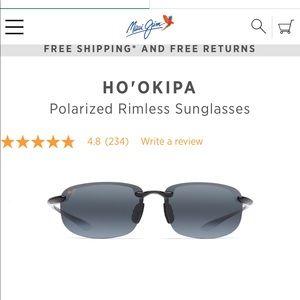 Maui Jim polarized Ho' Okipa rimless sunglasses 🕶